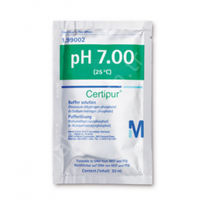 MERCK 199002 (potassium dihydrogen phosphate / di-sodium hydrogen phosphate), traceable to SRM from NIST and PTB pH 7.00 (25 ° C) Certipur® 30 x 30 mL
